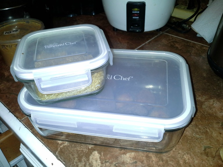 pampered chef containers brought to Belize