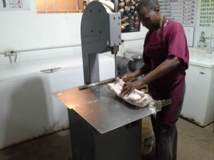 cost of living Belize butcher